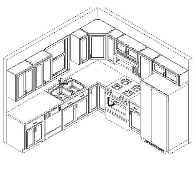 10x10 Kitchen Includes Cabinets Trim Hardware On Site Measure Only